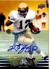 2013 Upper Deck Notre Dame Football Auto Ricky Watters #50 SP