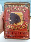 RARE ANTIQUE BISON BRAND LITHO CREAM OF TARTER VINTAGE SPICE TIN TORONTO CANADA