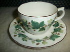 NIKKO TABLEWARE CASUAL LIVING GREENWOOD IVY 2 SETS CUP & SAUCER 2 SAUCERS