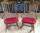 Two (2) ETHAN ALLEN Maple Rocking Chairs Matching Cape Cod Rockers Chair