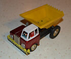 VINTAGE TIN AND PLASTIC TOY FRICTION DUMP TRUCK MF 169 - 1960'S