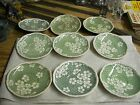 Antique Royal Cauldron  Prunus saucer and plate lot