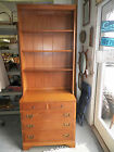 Vintage Ethan Allen Kling Colonial Maple Dresser Bookcase Combination Nice