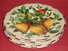 SET SAKURA ONEIDA SONOMA EXCELL STONEWARE CHINA SALAD PLATES MULTI COLOR