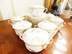 Limoges Haviland COVERED CREAM SOUP BOWLS CUPS w/ UNDERPLATES  Set / 8 - NICE!