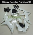Unpainted ABS Injection Fairing Kit BodyWork for YAMAHA YZF R1 2002-03 white USA
