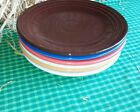 LUNCHEON PLATE chocolate HOMER LAUGHLIN FIESTA WARE 9