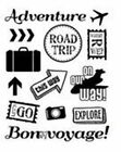 Forever in Time Clear Cling Rubber Stamps LETS TRAVEL New