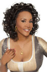 Vivica A. Fox Natural Baby Hair Lace Front Toni Wig Color #1 Jet Black
