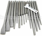 16pc Mechanics Punch and Chisel Set Industrial Pin Tapered Center Chisel Punch