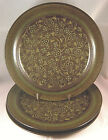 3 FRANCISCAN MADEIRA Dinner Plates USA Earthenware Stoneware Flowers Brown Green