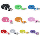 1M Braided Flat Micro USB Data Sync Charger Cable For Samsung S3 S4 S6 Note 4 5