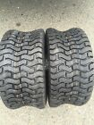 Two New 18X6.50-8 DEESTONE D265 Turf Riding Lawn Mower Garden Tractor Tires