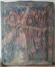 MODERN ABSTRACT EXPRESSIONISM DOUBLE SIDED ENCAUSTIC SIGNED WAX OIL PAINTING