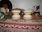 4 Vintage Sterling Desert Tan China Brown Stripe Tan Restaurant Ware Bowls