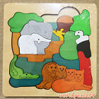 New Kids Gift Fine Wooden Multilayer Jigsaw Puzzle Fancy African Homeland