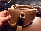 Crosman Gun Holster Sturdy Beige Canvas Velcro Security Strap W Buckle Air Soft