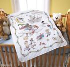 PLAID Bucilla Baby Stamped Cross Stitch Mary Engelbreit MOTHER GOOSE CRIB COVER