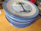 M A Hadley Pottery Country Set of 10 Plates 7.5