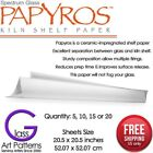 Papyros Kiln Shelf Paper 20 1 2 Square in 5 10 15 Fused Glass Supplies