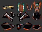GRAPHICS BACKGROUNDS DECALS FOR KTM EXC 125 200 250 300 380 400 1998 99 2000 J