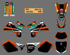 GRAPHICS BACKGROUNDS DECALS FOR KTM EXC 125 200 250 300 380 400 1998 99 2000 K