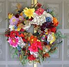 ~Le March Aux Flours~Spring Summer Tuscan French Country Door Wreath XXL~
