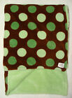 Spice Brown Green Polka Dot Baby Blanket Thick Soft