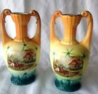 A PAIR OF ANTIQUE  CZECHOSLOVAKIAN   VASES EARLY 1900'S