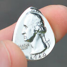 1932 1964 REAL SILVER QUARTER GUITAR PICK COIN HAND MADE USA CHOOSE DATE