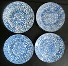 NOS Beautiful Stangl Pottery Town and Country Blue 4 SALAD PLATES 8 1/4