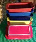FIESTA BAKING baker loaf pan DISH scarlet red