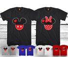MICKEY AND MINNIE T SHIRTS VALENTINE MATCHING HEADS CUTE LOVE COUPLES NEW COOL