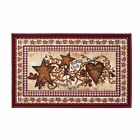 Primitive Country Hearts and Stars Accent Rug Berries Bless This Home Bath Rug