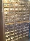 Vintage 72 Drawer Blond Wood Index Library Card Catalog Cabinet Office File