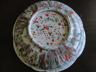 Vintage Green and Orange Speckled Dish