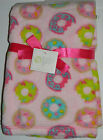 New Baby Gear Pink Sweet Green Blue Doughnuts Donuts Fleece Girl Blanket