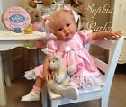 NEW Reborn Baby Girl 24 Toddler Doll Emily Grace Jacobsen Glass Eyes Germany