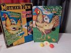 Vintage Tin Mechanical Mother Hen Target Game w Orig. Box by Y Trade Mark Japan