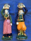 henriot quimper Pair Of Male Female Candlestick Holders
