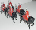 Old BRITAINS 1950s Lead, The Life Guards, Mounted In Cloaks, 5 Piece Set #400
