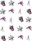 Beautician Hairdresser Waterslide Water Transfer Nail Decals Nail art