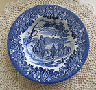 Dickens Series English Ironstone Blue Soup Bowl 8.5