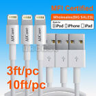 LOT Apple Certified MFI USB Sync Charger Cable iPhone XS Max 8 7 Plus