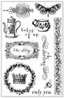 Prima Marketing Tales of You  Me Cling Stamps 13 Pieces