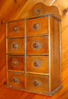 PRIMITIVE  WOOD SPICE CABINET TO EARLY 1900'S