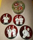 Set of 4 Oneida Chef Capades Dessert/Salad Plates Boxed