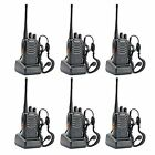 6 Pack Walkie Talkie 2 Two Way Radio Handheld Long Range Marine Police Frs GMRS