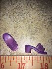 Barbie Purple Clear Jelly Open Toe Sandals Shoes Pumps Clogs Doll accessory