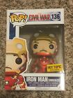 FUNKO POP MARVEL CIVIL WAR IRON MAN UNMASKED HT EXCLUSIVE NIH SOLD OUT HTF